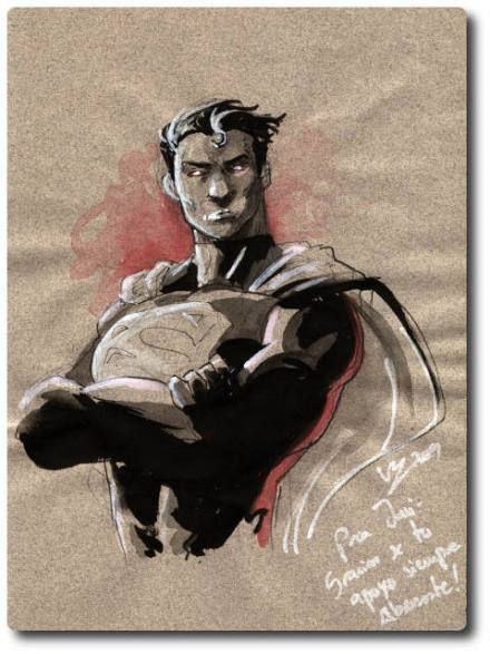 Original de Superman, por Vicente Cifuentes