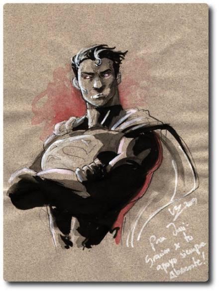 Original de Superman, por Vicente Cifuentes